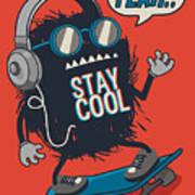 Skater Monster Art Print