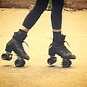 Skates In Motion Art Print