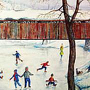 Skating At The Bridge Art Print