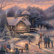 Skating By Twilight Art Print by Chuck Pinson