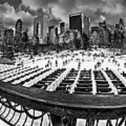 Skating In Central Park Art Print
