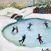 Skating Pond Art Print
