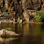 Skc 2964 The Rustic Rocks And Ripply Waters Art Print