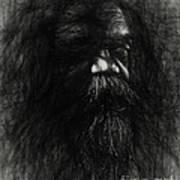 Sketch of an aborigine Art Print