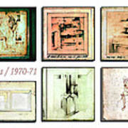 Sketches 1970 To 71 Art Print
