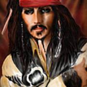 Sketching A Pirate... Print by Alessandro Della Pietra