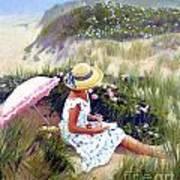 Sketching Vineyard Dunes Art Print