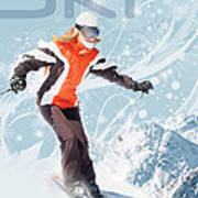 Ski 2 Art Print