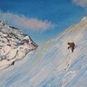 Ski Alaska Heli Ski Art Print