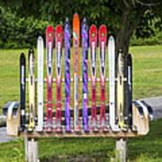 Ski Bench - Fort Foster - Maine Art Print
