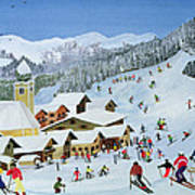Ski Whizzz Art Print by Judy Joel