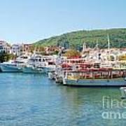 Skiathos Town Harbour Art Print