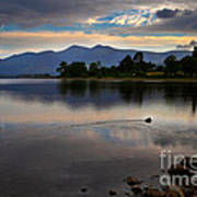 Skiddaw And Derwent Water At Dawn Art Print