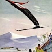 Ski Jump On Vanity Fair Cover Art Print
