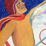 Skiers Exhilaration  Art Print