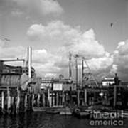 Skiffs At  Montereys Fisherman's Wharf California Circa 1945 Art Print