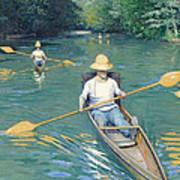 Skiffs Art Print by Gustave Caillebotte