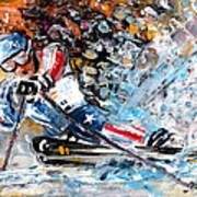 Skiing 04 Art Print