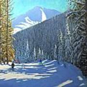Skiing  Beauregard La Clusaz Art Print