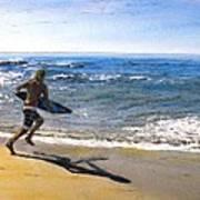 Skim Boarding at Pearl Beach Now Sold Art Print