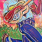 Skippin' Blues Art Print by Robert Ponzio