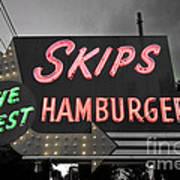 Skips Hamburgers II Art Print