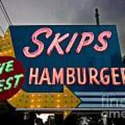 Skips Hamburgers Art Print