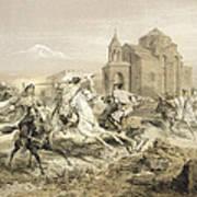 Skirmish Of Persians And Kurds Art Print