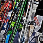 Skis At Mccauley Mountain II Art Print