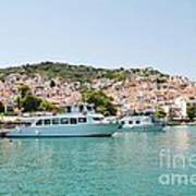 Skopelos Harbour Greece Art Print