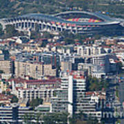 Skopje City And Stadium Art Print