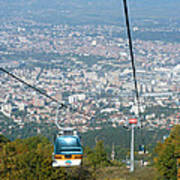 Skopje From The Cablecar Art Print