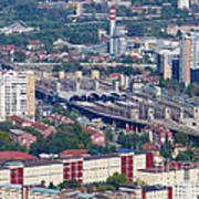 Skopje Railway Station Art Print