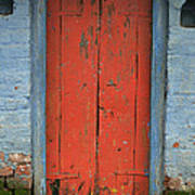 Skc 0401 Closed Red Door Art Print