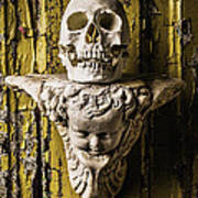 Skull And Angel Art Print