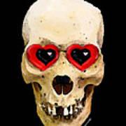 Skull Art - Day Of The Dead 2 Print by Sharon Cummings