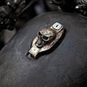 Skull Design On Motorcycle Ignition Art Print