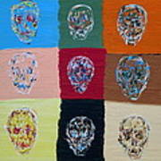 Skull Pop Nine Art Print