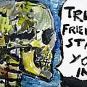 Skull Quoting Oscar Wilde.2 Art Print