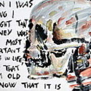 Skull Quoting Oscar Wilde.3 Art Print