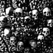 Skulls And Bones In The Catacombs Of Paris France Art Print