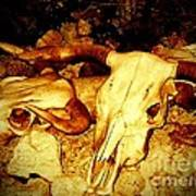 Skulls In Sepia Art Print