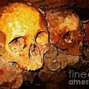 Skulls In The Paris Catacombs Art Print