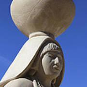 Sky City Cultural Center Statue 2 Art Print