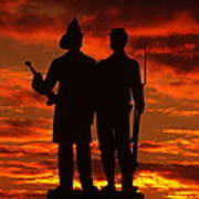 Sky Fire - 73rd Ny Infantry Fourth Excelsior Second Fire Zouaves-a1 Sunrise Autumn Gettysburg Art Print