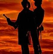 Sky Fire - 73rd Ny Infantry Fourth Excelsior Second Fire Zouaves-b1 Sunrise Autumn Gettysburg Art Print