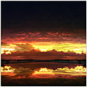 Sky Fire Siesta Key Art Print