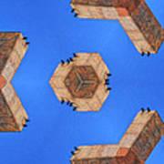 Sky Fortress Progression 6 Art Print