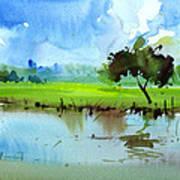 Sky N Farmland Art Print