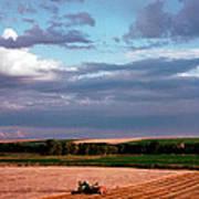 Sky Over Harvest Art Print